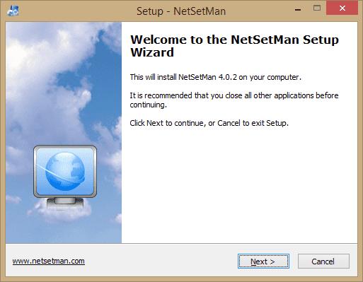 NetSetMan – mengganti network profile dengan mudah