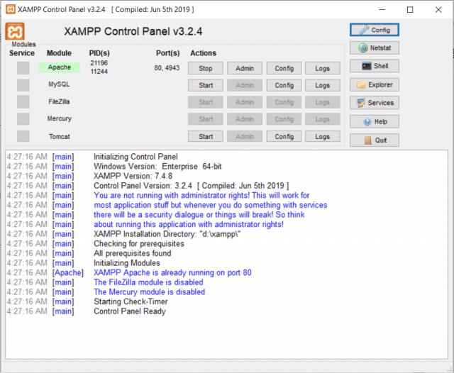 How to fix error 10013 on XAMPP MySQL Windows 10 even no MySQL installed